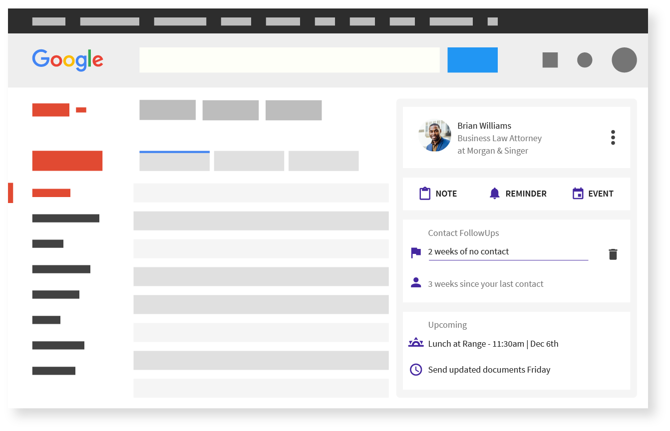FollowUp Personal CRM - Gmail