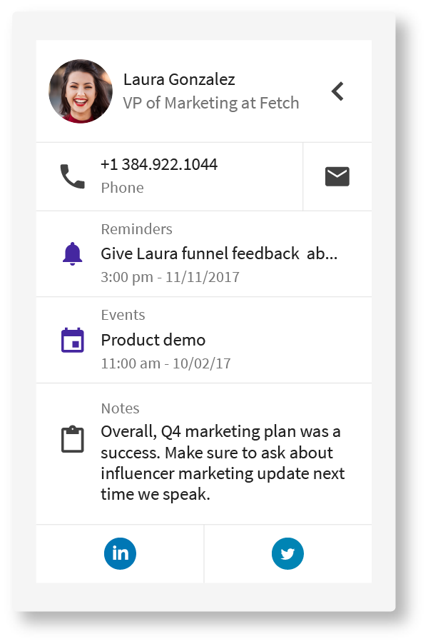 FollowUp Personal CRM - Laura